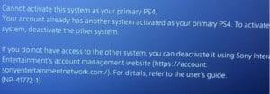 error np-41772-1 in PS4